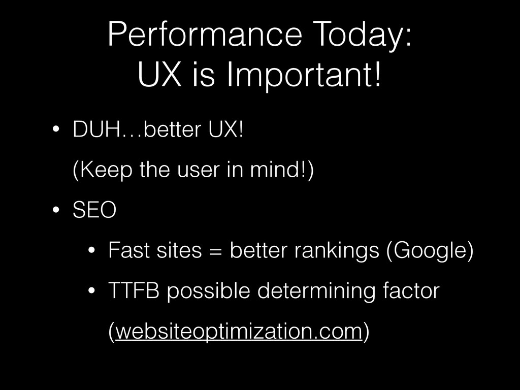Performance Today: