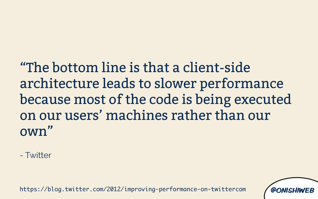 """@onishiweb """"The bottom line is that a client-si..."""