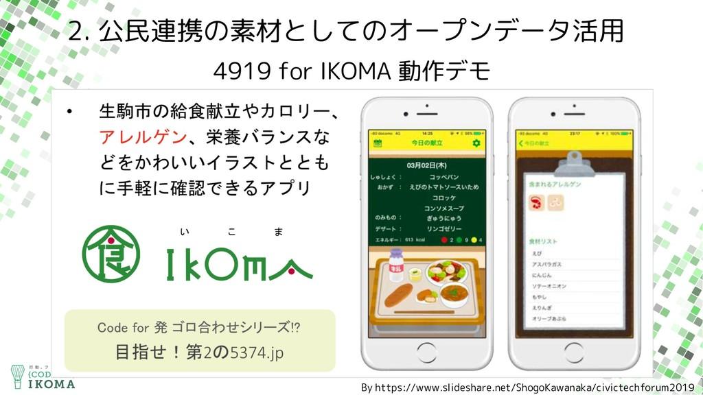 4919 for IKOMA 動作デモ By https://www.slideshare.n...