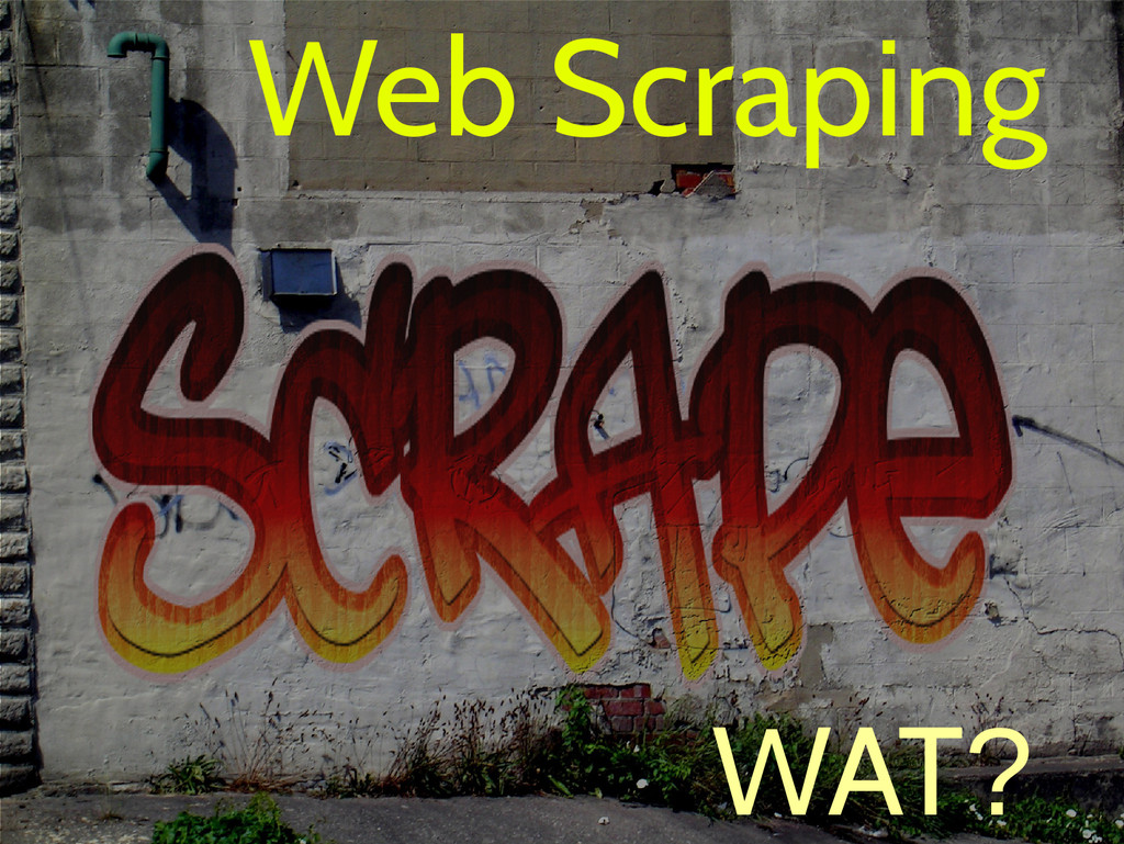 Web Scraping WAT?