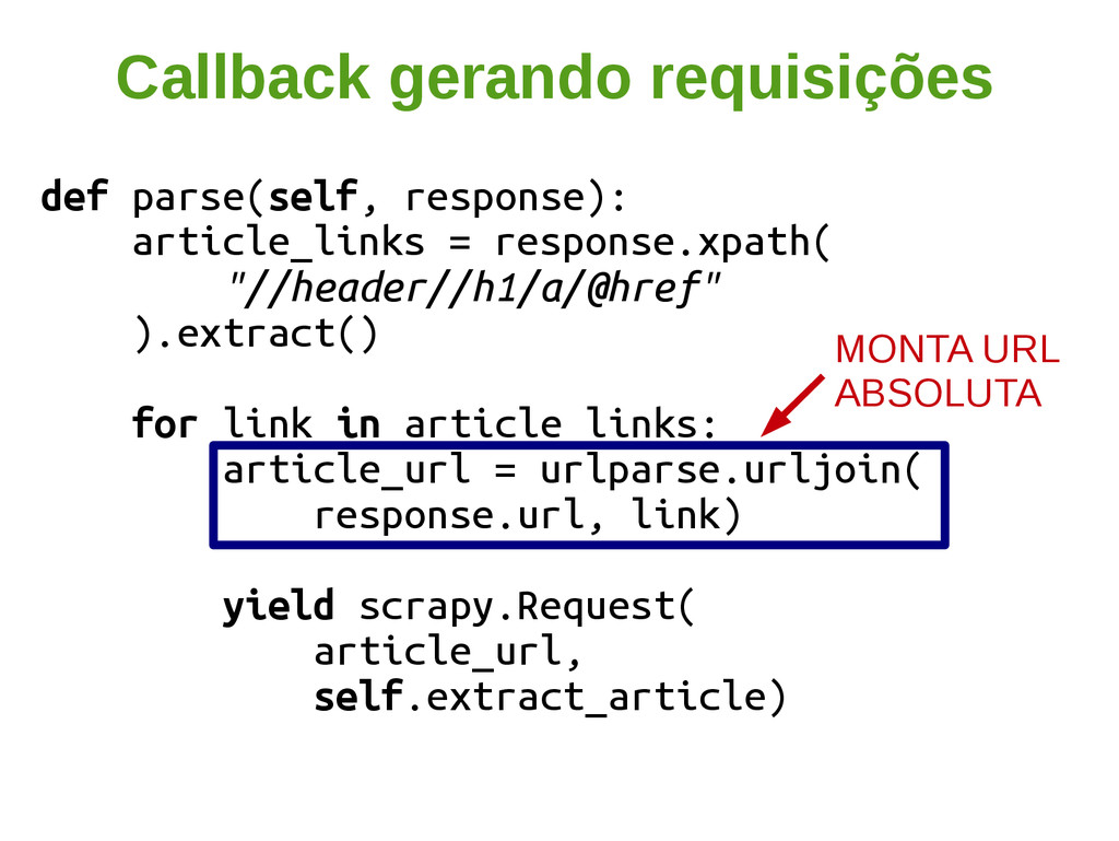 def parse(self, response): article_links = resp...