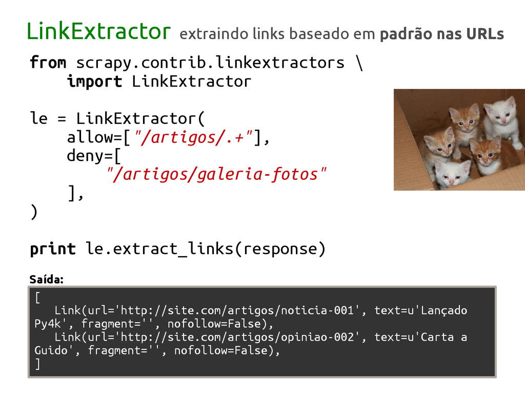 from scrapy.contrib.linkextractors \ import Lin...