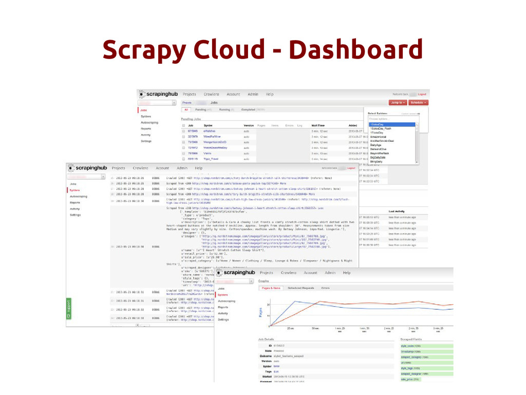 Scrapy Cloud - Dashboard