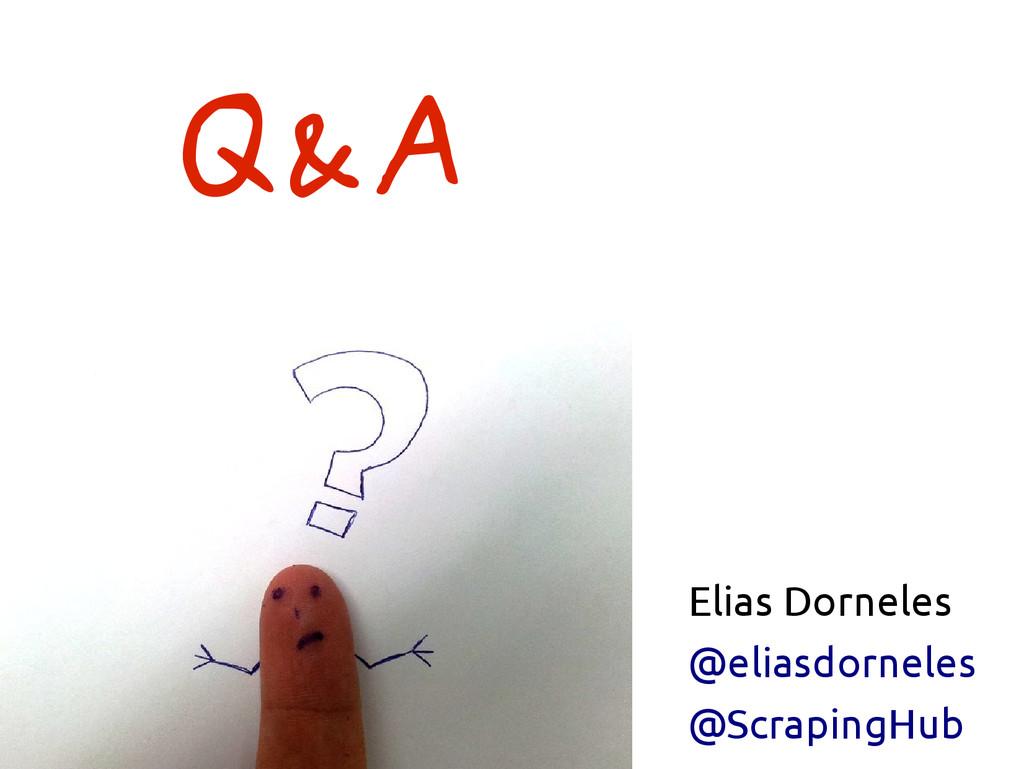 Elias Dorneles @eliasdorneles @ScrapingHub Q&A