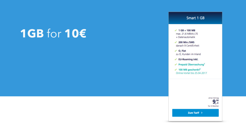 1GB for 10€