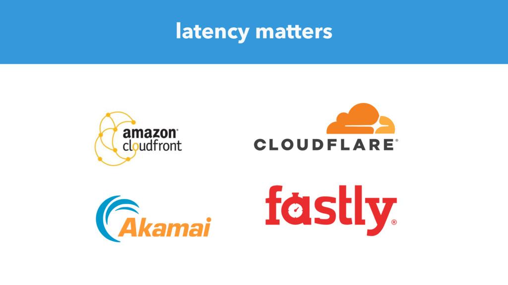 latency matters