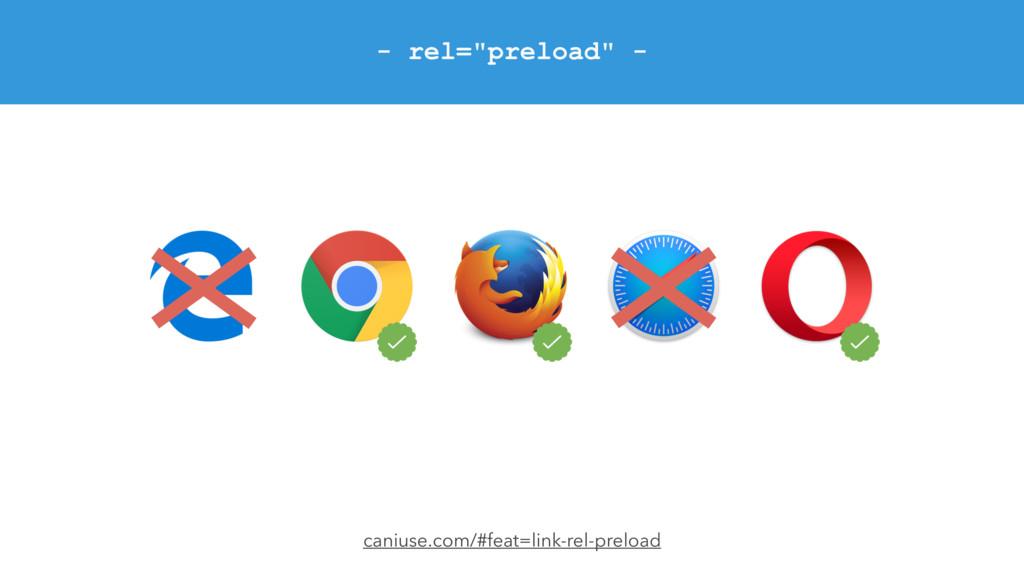 "- rel=""preload"" - caniuse.com/#feat=link-rel-pr..."
