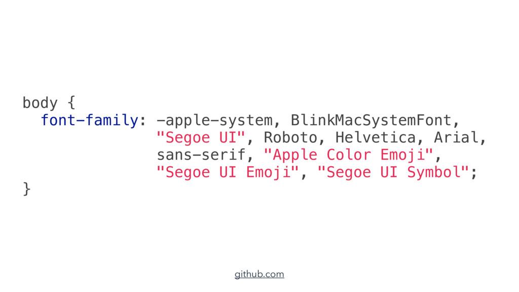 body { font-family: -apple-system, BlinkMacSyst...