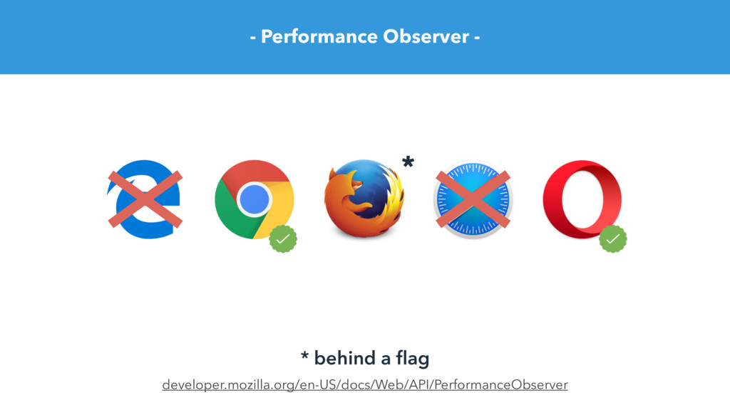 - Performance Observer - developer.mozilla.org/...