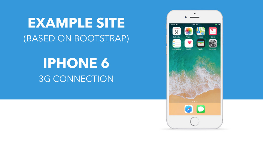 EXAMPLE SITE (BASED ON BOOTSTRAP) IPHONE 6 3G C...