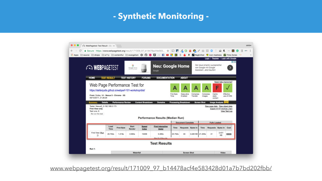 - Synthetic Monitoring - www.webpagetest.org/re...
