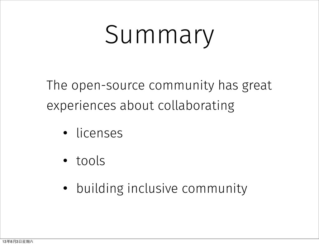 Summary The open-source community has great exp...