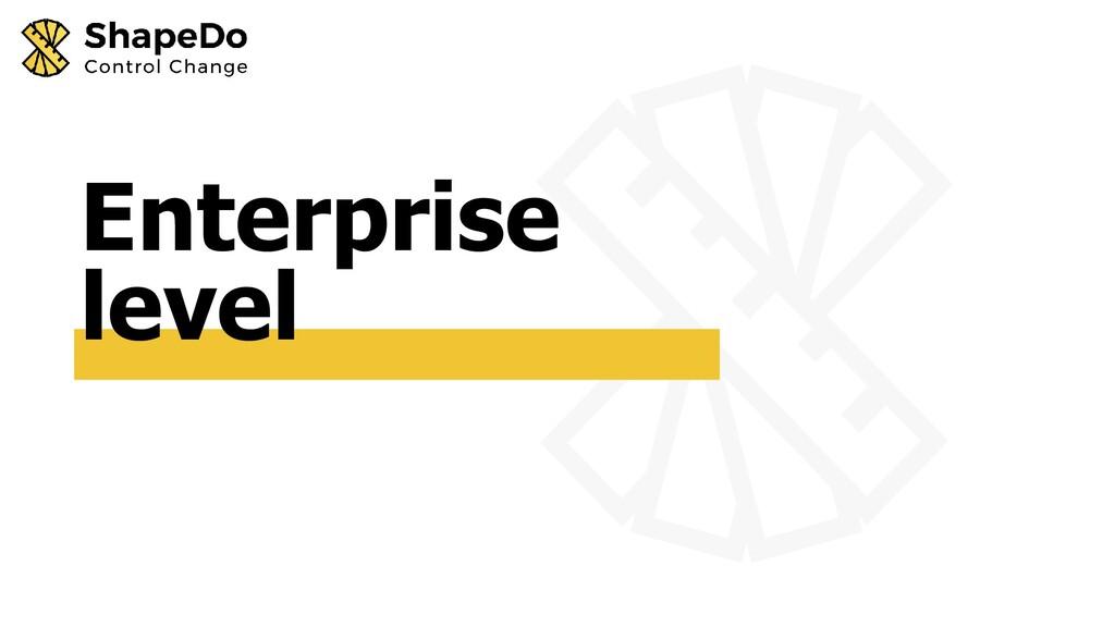 Enterprise level