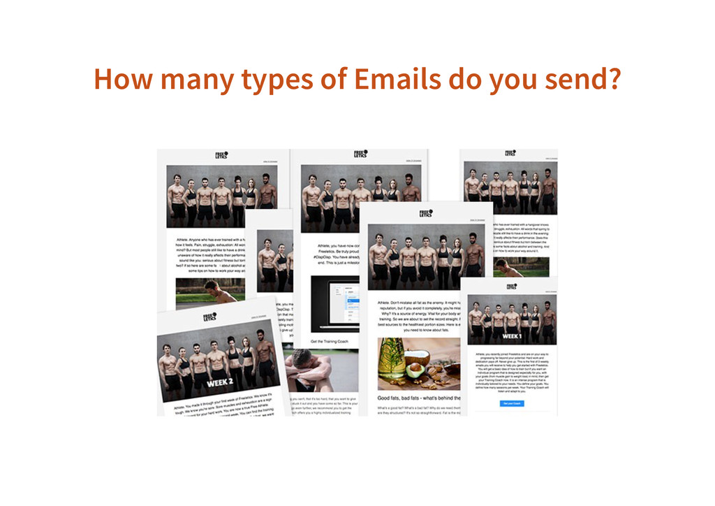 How many types of Emails do you send?