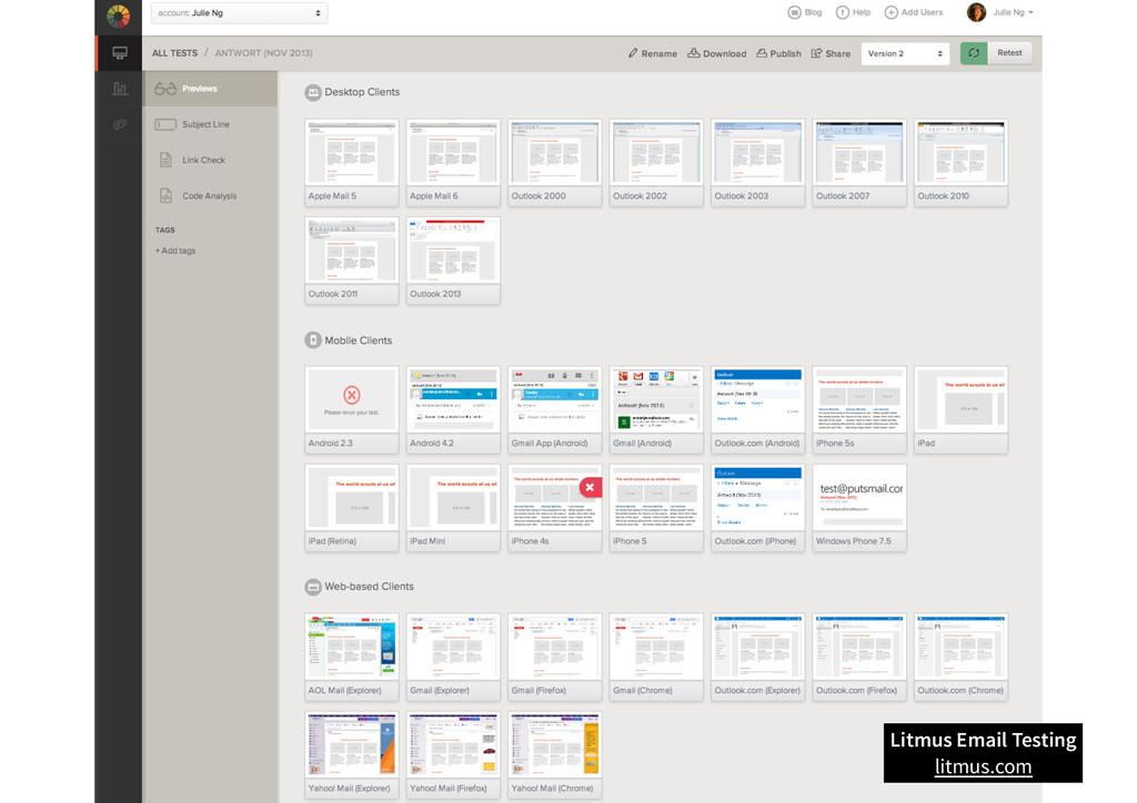 Litmus Email Testing litmus.com