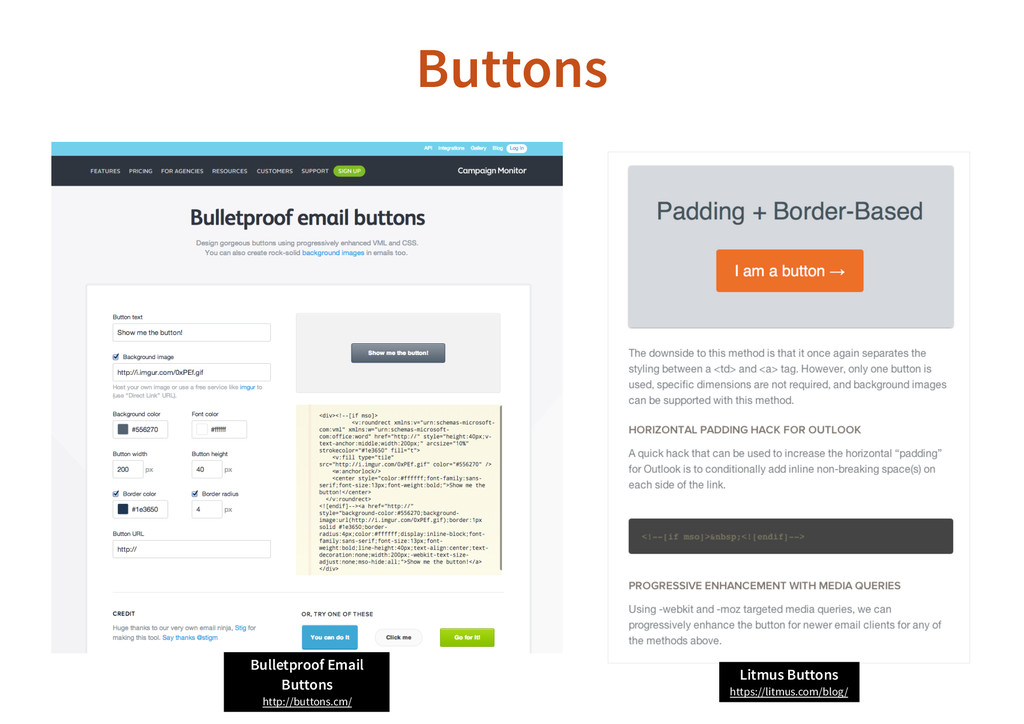 Buttons Bulletproof Email Buttons http://button...