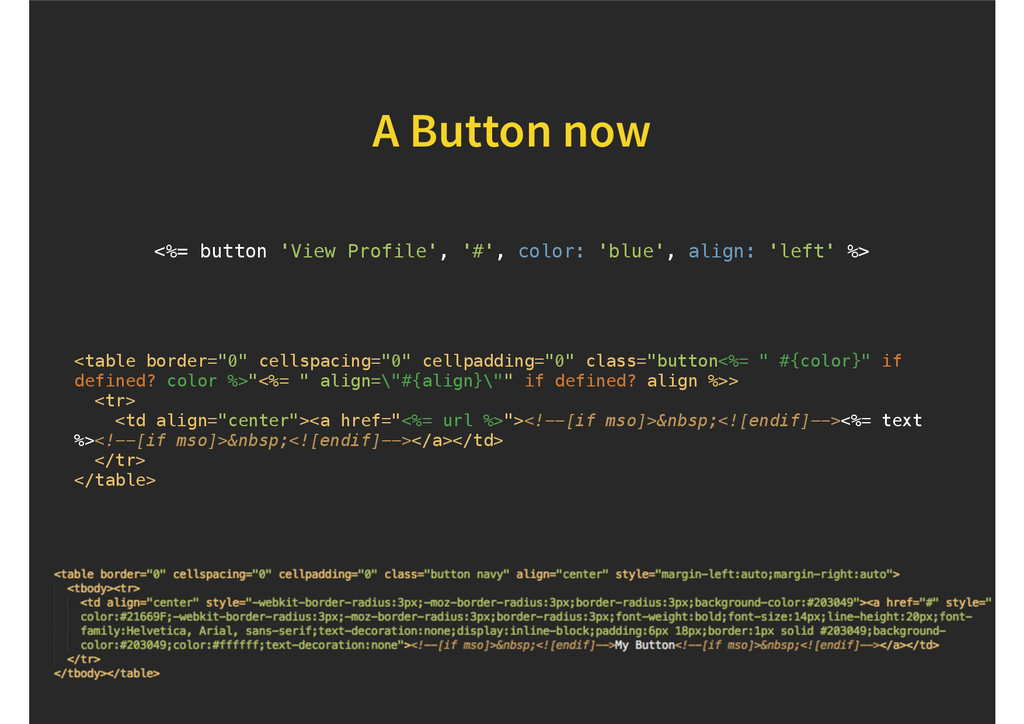 "A Button now <table border=""0"" cellspacing=""0"" ..."