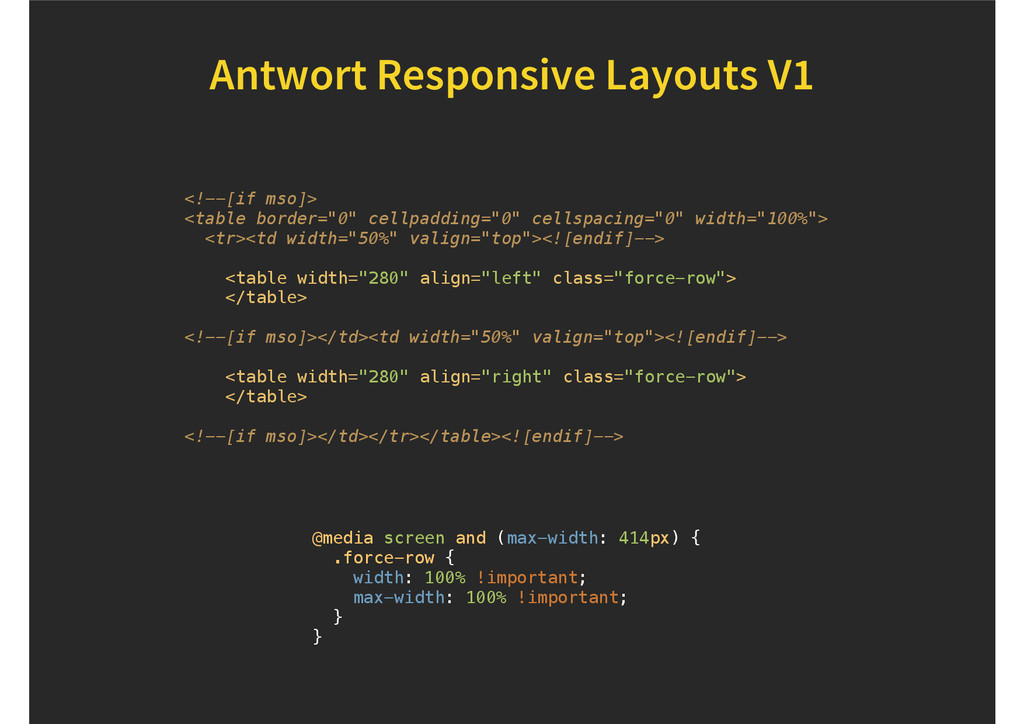 Antwort Responsive Layouts V1 <!--[if mso]> <ta...
