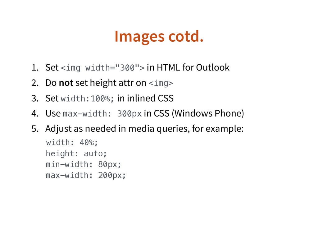 "Images cotd. 1. Set <img width=""300""> in HTML f..."