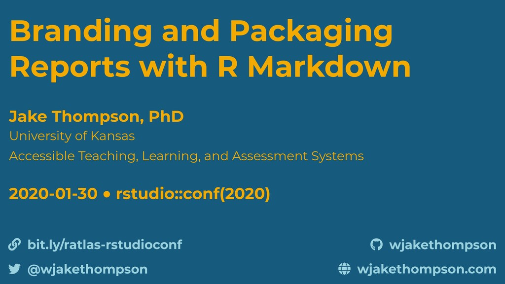 Branding and Packaging Reports with R Markdown ...