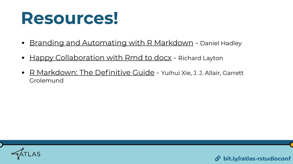 Resources! • Branding and Automating with R Mar...