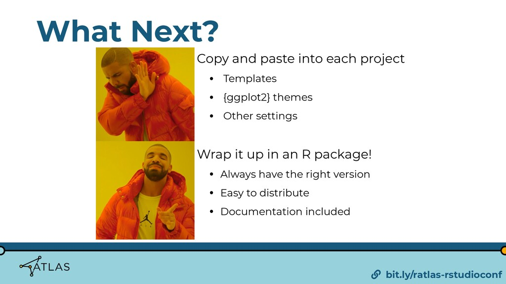 What Next? Copy and paste into each project • T...