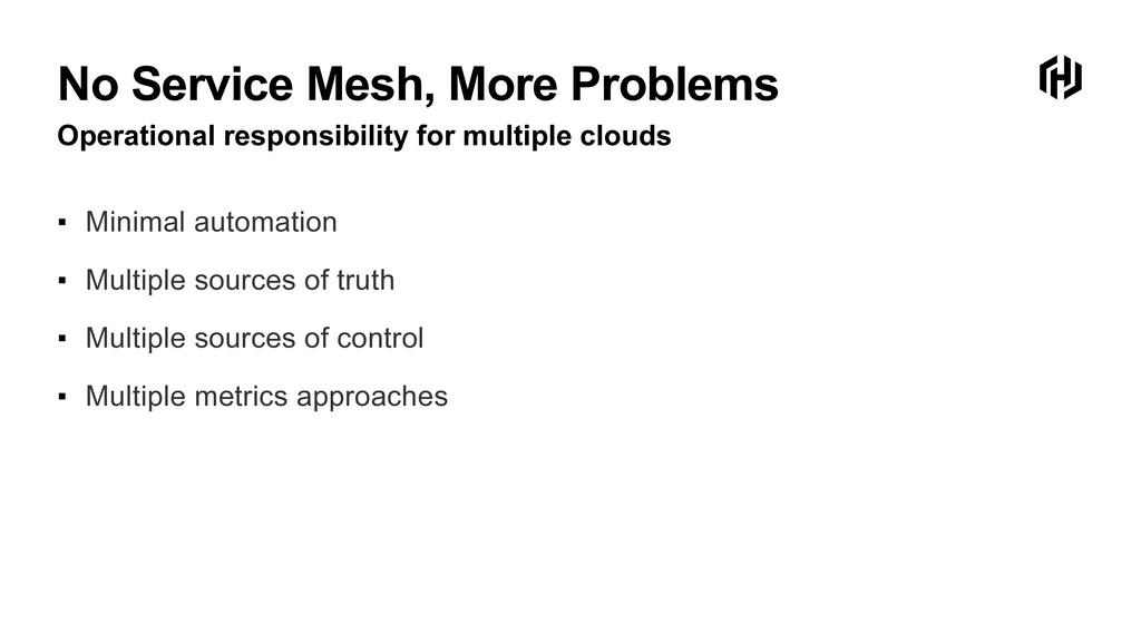 No Service Mesh, More Problems Operational resp...