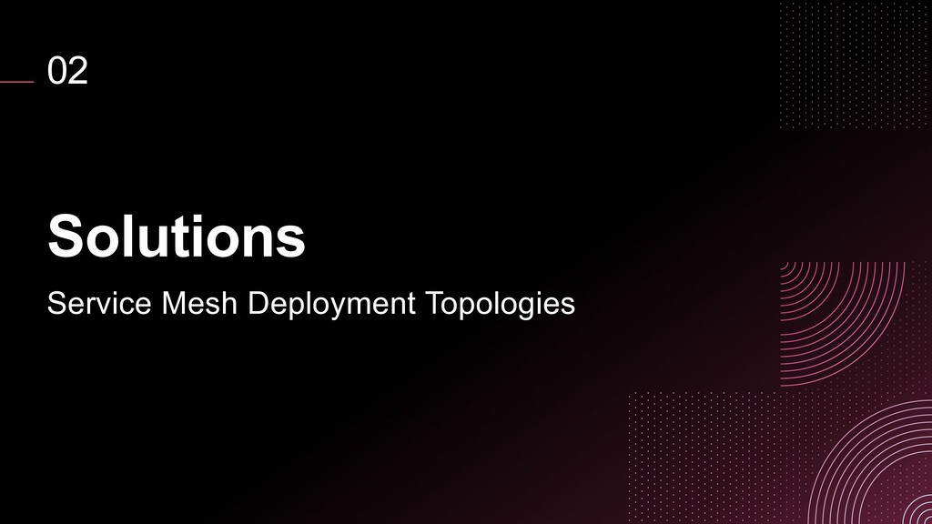 02 Solutions Service Mesh Deployment Topologies