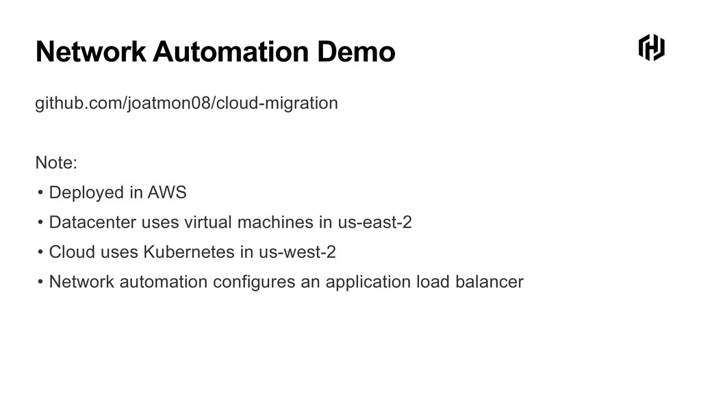 Network Automation Demo github.com/joatmon08/cl...