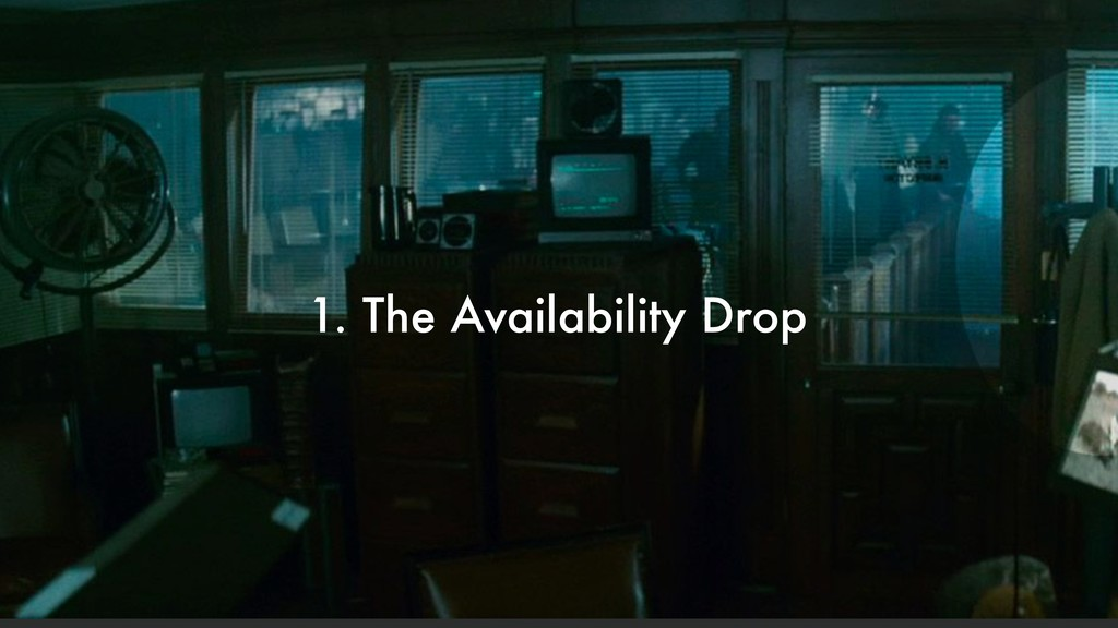 1. The Availability Drop