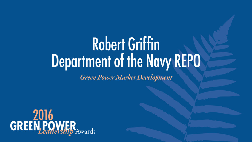 Robert Griffin Department of the Navy REPO Gree...
