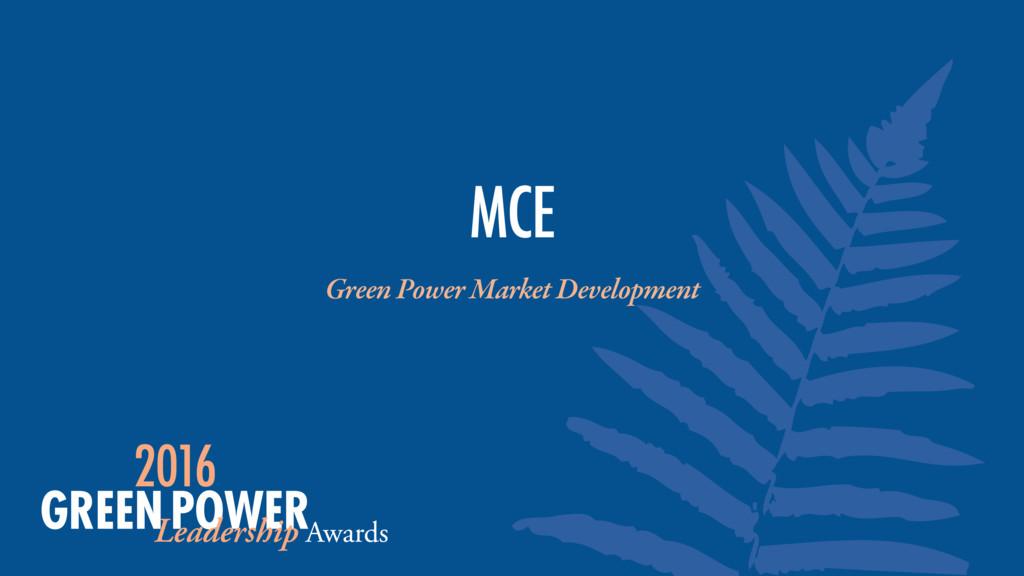 Green Power Market Development MCE