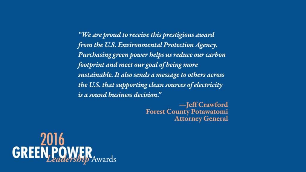 —Jeff Crawford Forest County Potawatomi Attorne...