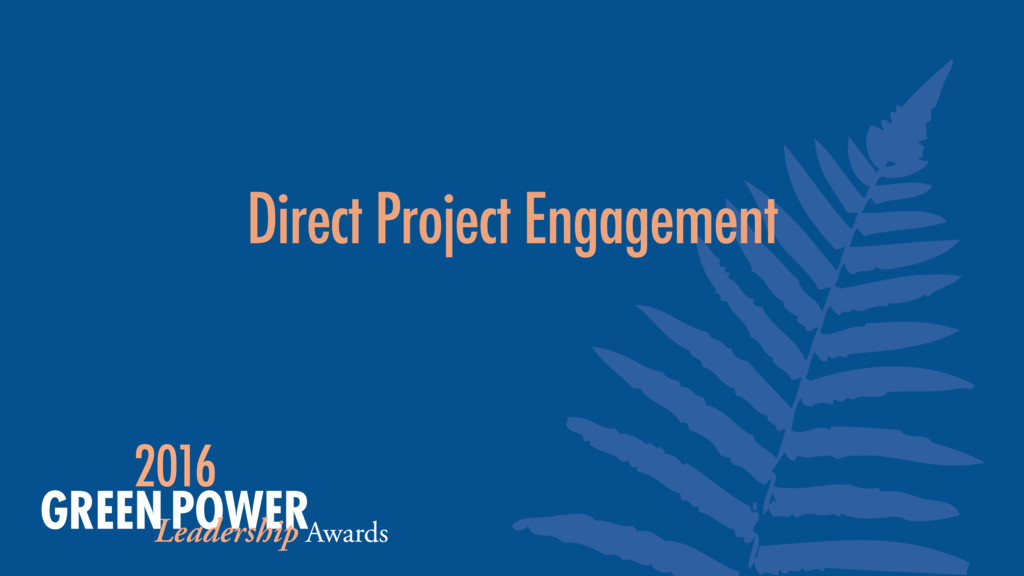 Direct Project Engagement