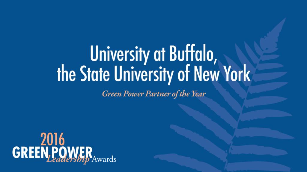 University at Buffalo, the State University of...