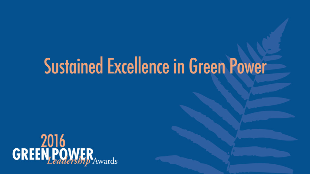 Sustained Excellence in Green Power