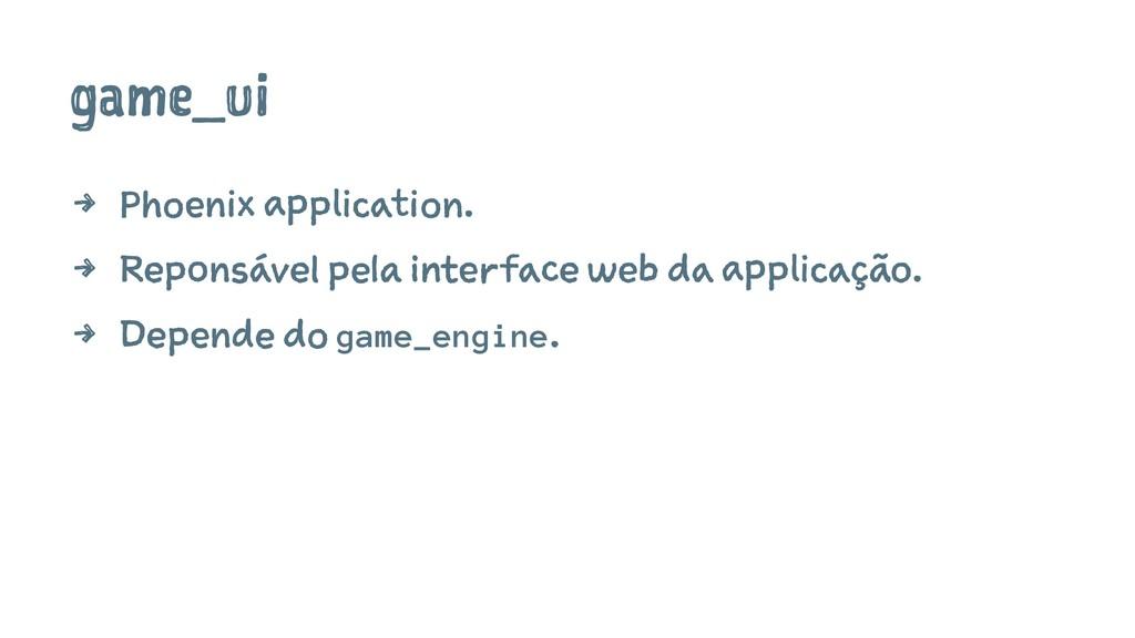 game_ui 4 Phoenix application. 4 Reponsável pel...