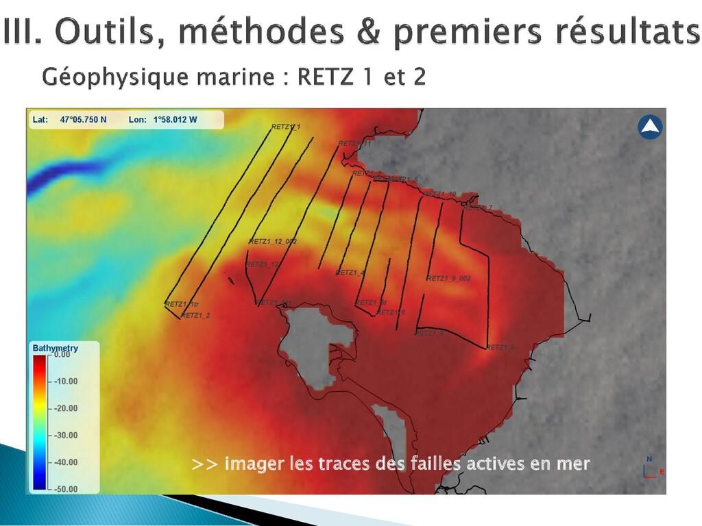 >> imager les traces des failles actives en mer