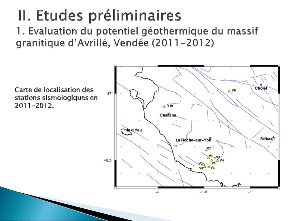 Carte de localisation des stations sismologique...