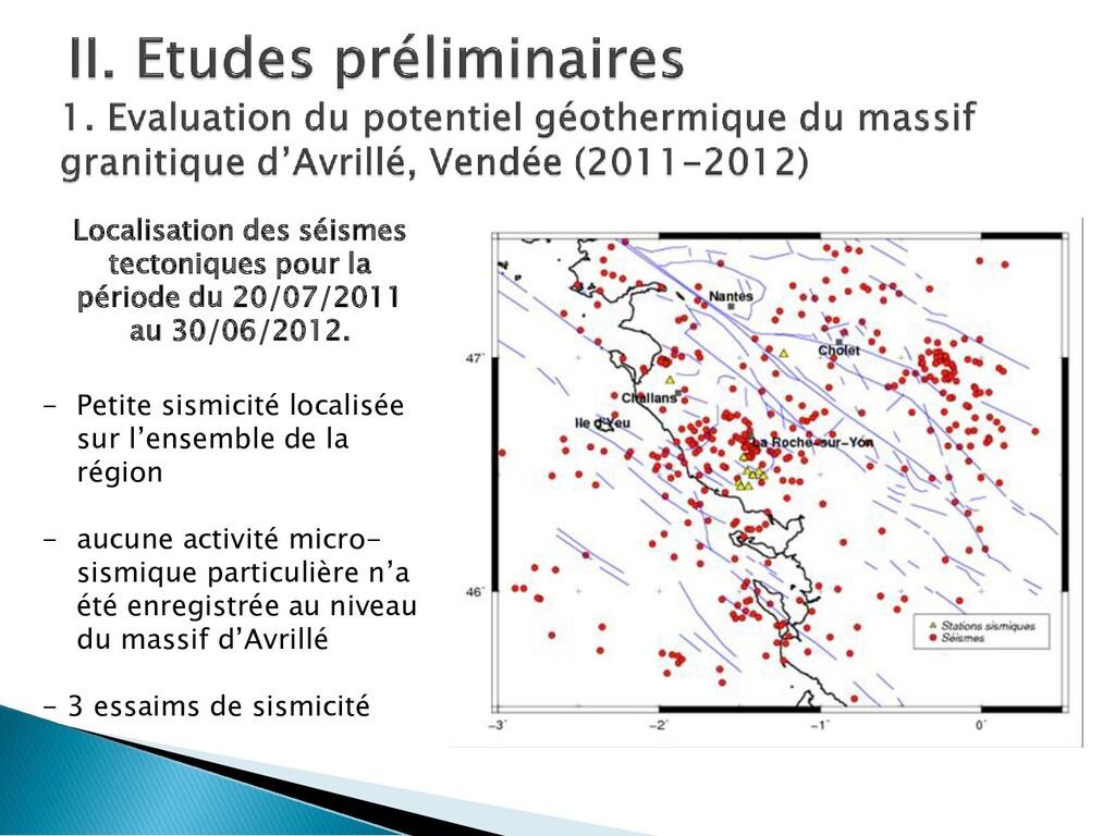 Localisation des séismes tectoniques pour la pé...