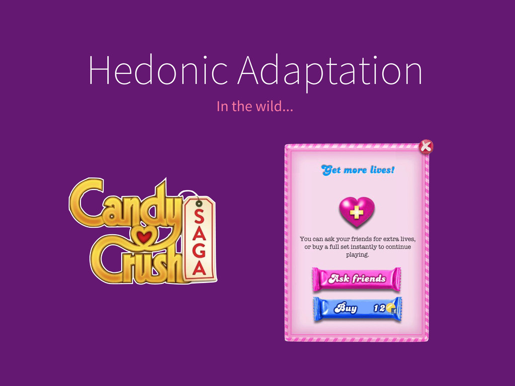 In the wild... Hedonic Adaptation