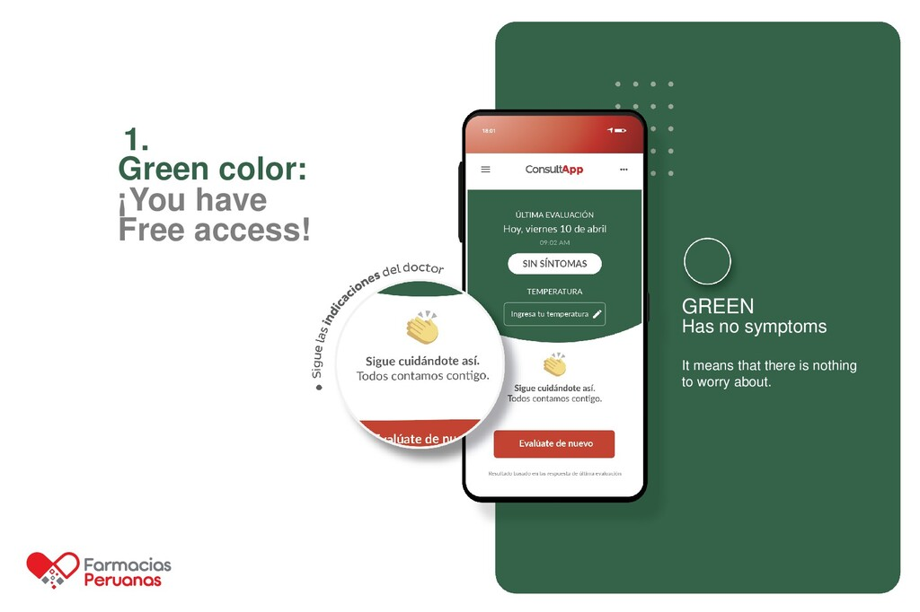 1. Green color: ¡You have Free access! GREEN Ha...