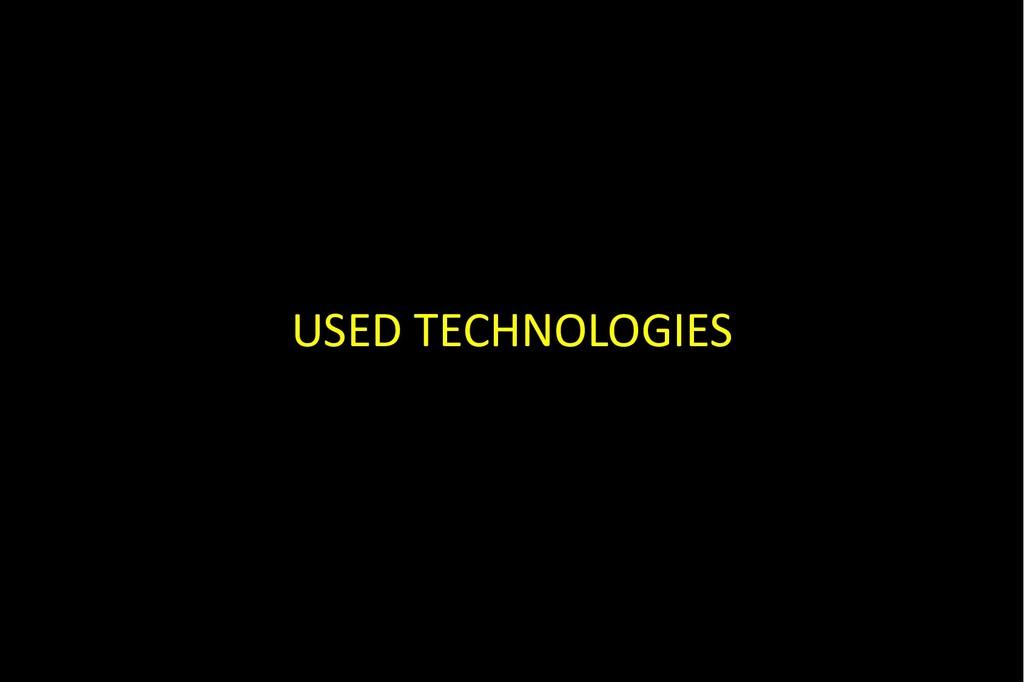 USED TECHNOLOGIES