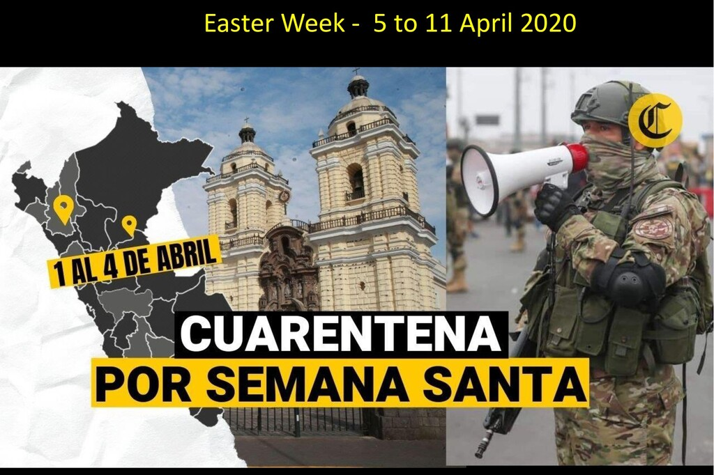 Easter Week - 5 to 11 April 2020