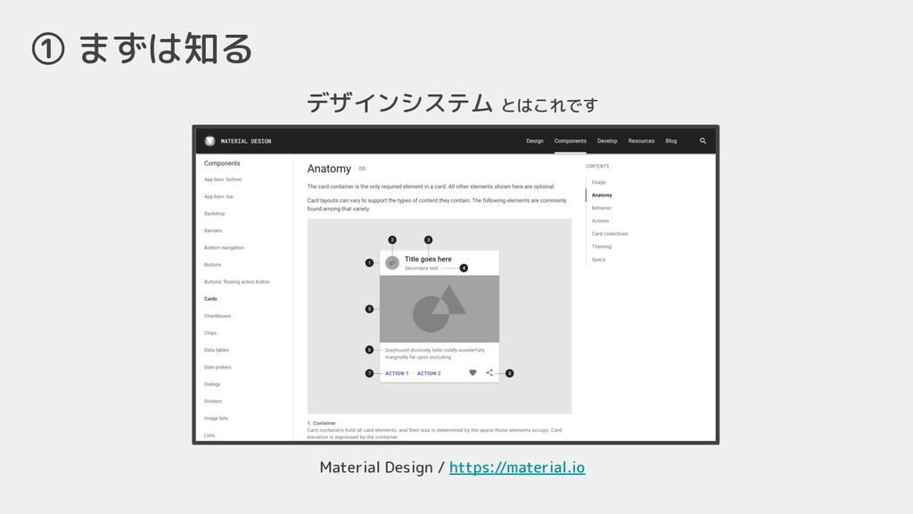 ① まずは知る デザインシステム とはこれです Material Design / https...