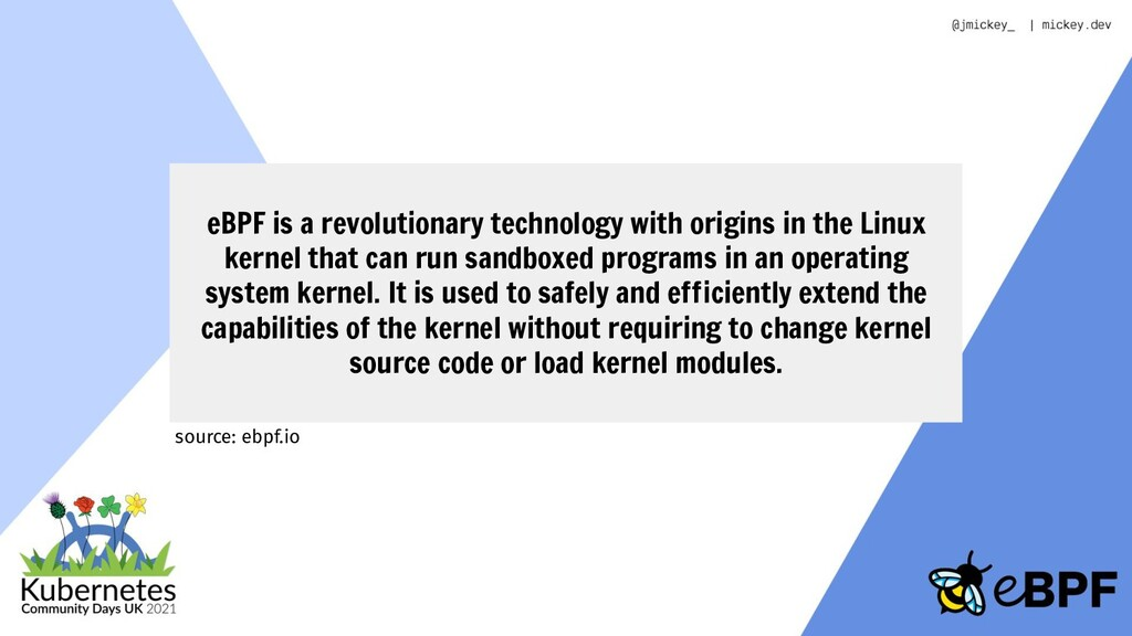 eBPF is a revolutionary technology with origins...