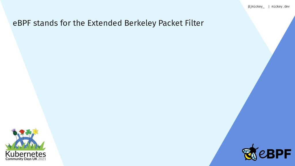 eBPF stands for the Extended Berkeley Packet Fi...