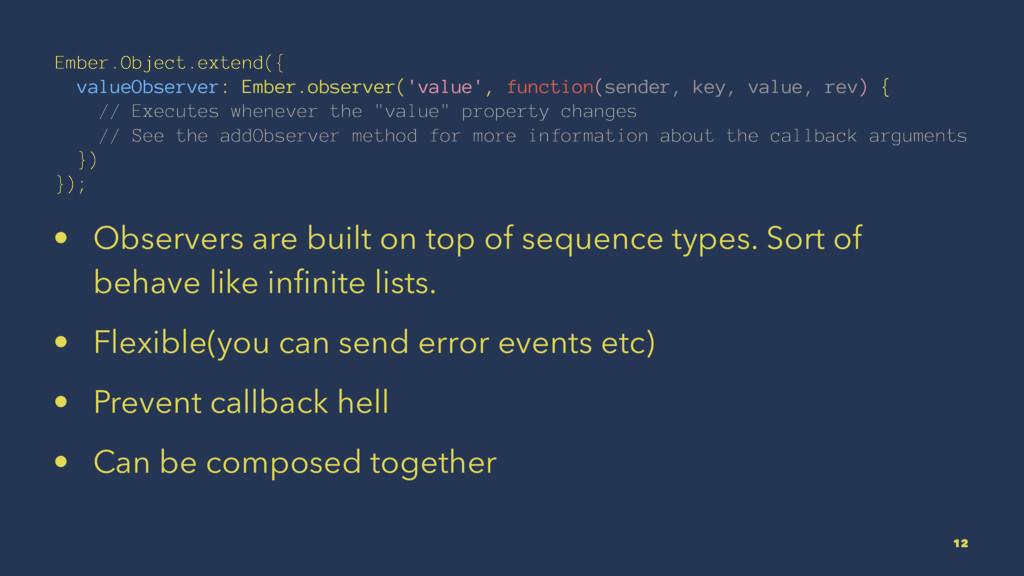 Ember.Object.extend({ valueObserver: Ember.obse...