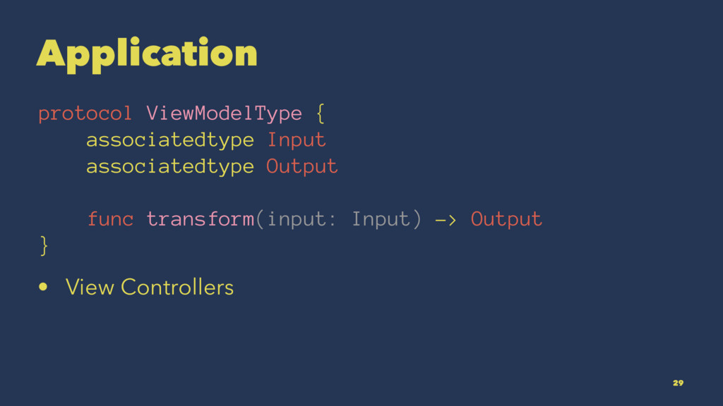 Application protocol ViewModelType { associated...