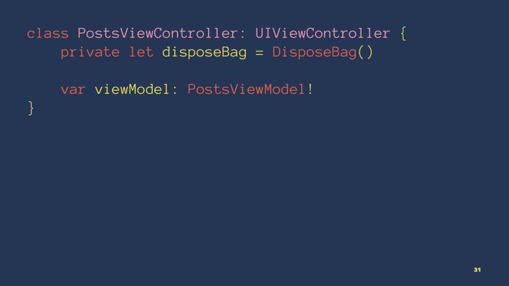 class PostsViewController: UIViewController { p...
